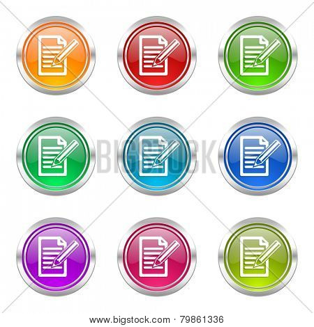 subscribe icons set write sign