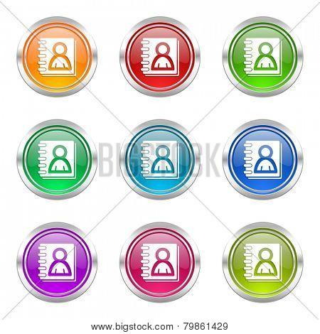address book icons set