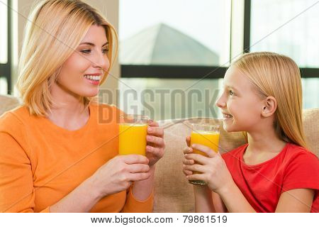 Enjoying Fresh Juice.