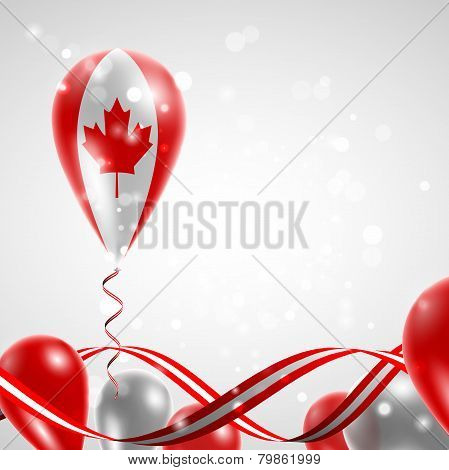 Flag of Canada on balloon