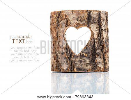Heart Cut In Hollow Tree Trunk