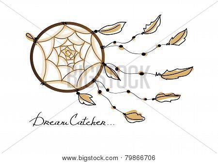 Illustration of dream catcher