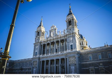 Almudena Cathedral, located in the area of the Habsburgs, classical architecture