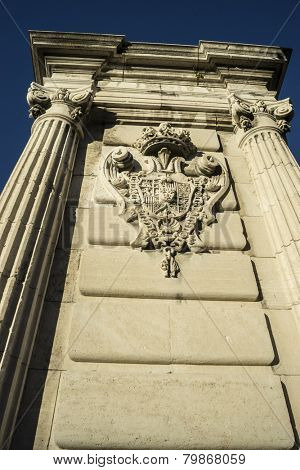 Royal Palace of Madrid, located in the area of the Habsburgs, classical architecture