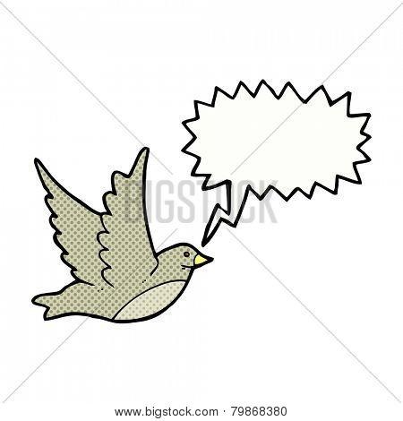 cartoon screeching bird