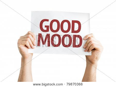 Good Mood card isolated on white background