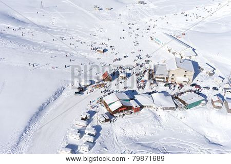 Aerial View Of Ski Resort Falakro, In Greece.