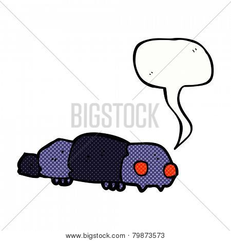cartoon insect with speech bubble
