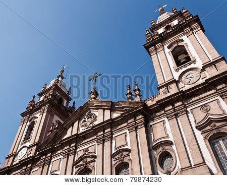 Candelaria Church Facade in Rio de Janeiro