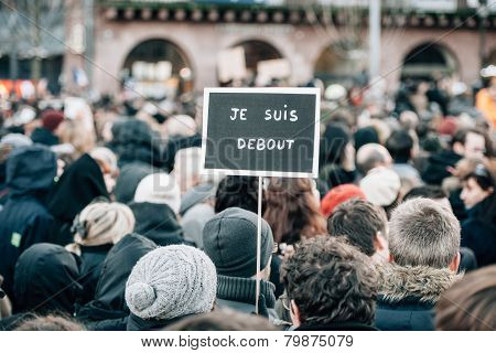 Mass Unity Rally Held In Strasbourg Following Recent Terrorist Attacks