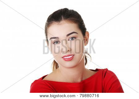 Portrait of happy woman looking at the camera.