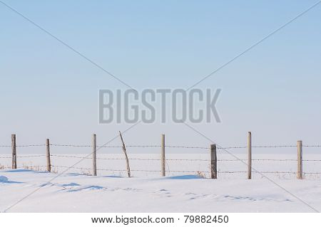 Fence in Untouched Snow