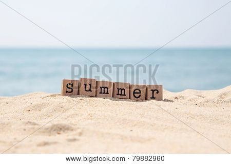 Summer Holiday Season At Sea Beach