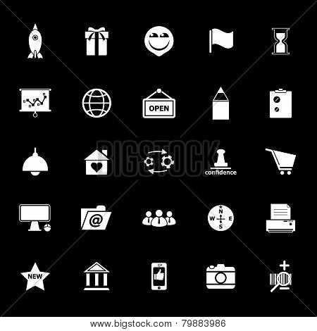Business Start Up Icons On Gray Background
