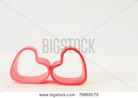 two spring hearts