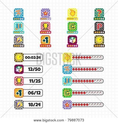 game asset icon button collection