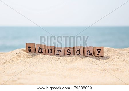 Thursday Word On Sand And Seaside