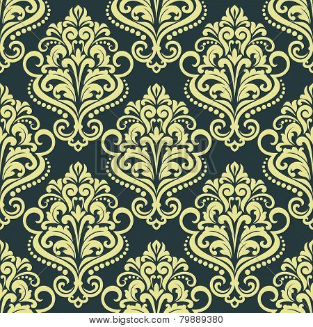 Dainty floral yellow seamless pattern