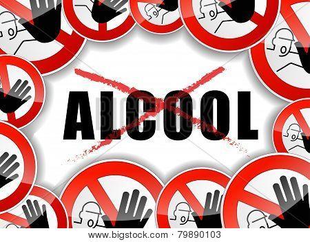 No Alcool Concept Illustration