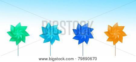 Colorful Toy Pinwheels