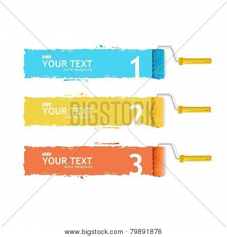 Vector roller brush for text, infographics