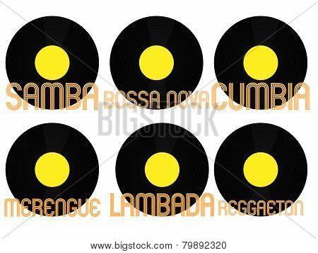 Latin Music Genres Vinyl 7