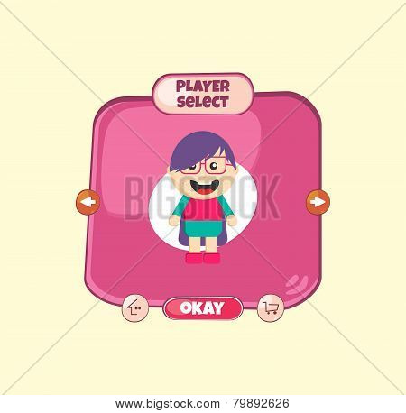 hero character option game menu