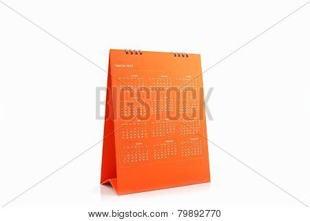 Orange Blank Paper Desk Spiral Calendar 2016.