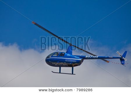 SAN CARLOS, CA - JUNE 19: Helicopter R44 Raven II on display at the Vertical Challenge 2010, June 19