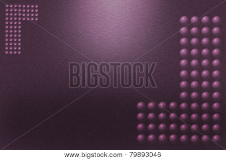 Pattern Of Purple Metal Background