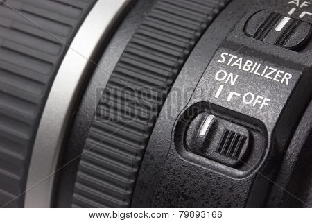 Close up of lens