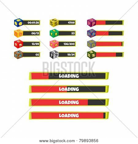 life bar menu game asset icon