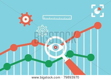 Flat Vector Concept Of Web Analytics Information And Development