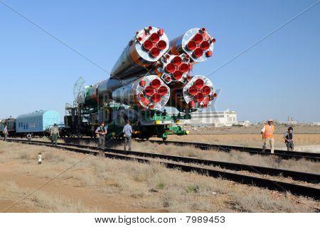 Soyuz Launch Vehicle Rollout