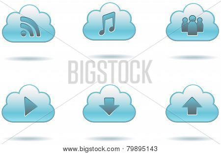 Data Cloud Icons