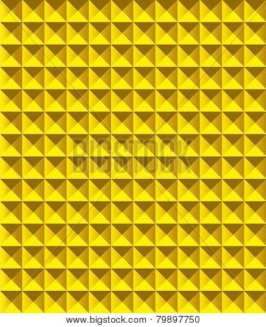 Golden pyramid pattern vector illustration