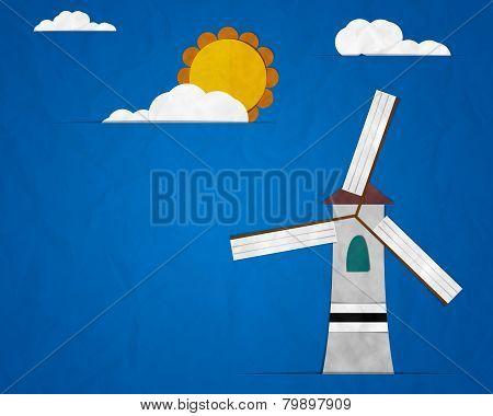 Turbine On Blue