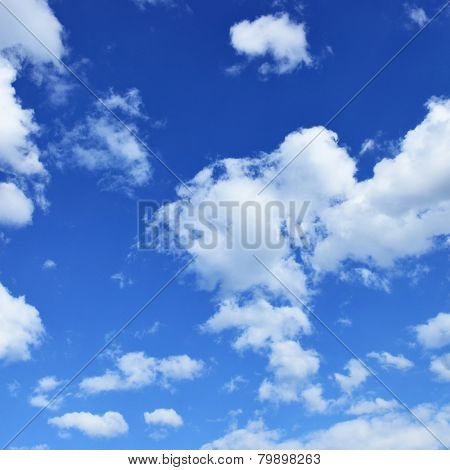 Blue sky, may be used as background