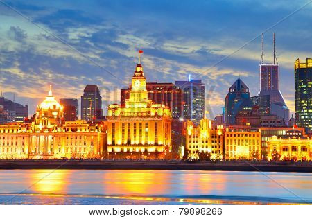 Waterfront area in Shanghai (The Bund), China