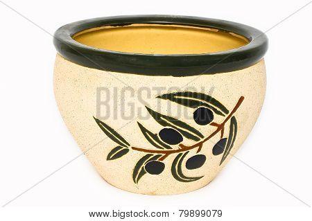 Ceramic flower pots.
