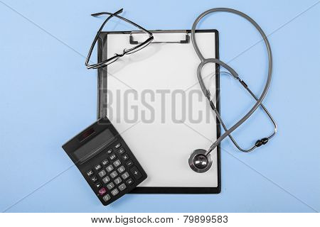 Calculator With Medical Clipboard