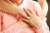 picture of life-support  - Old and young hands hug - JPG