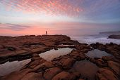 Постер, плакат: Sunrise North Avoca With Rockpool Reflections