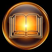 Book Icon Golden.