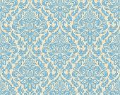 stock photo of fill  - Vector damask seamless pattern background - JPG
