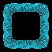 stock photo of contortion  - abstract geometric vector frame from broken blue colored lines - JPG