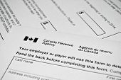 pic of income tax  - Canadian tax form - JPG
