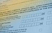picture of income tax  - Irish tax form - JPG