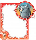 image of chinese zodiac  - Rat or mouse - JPG
