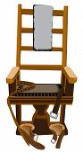 stock photo of gruesome  - An illustration of a Criminal Punishment capital crime electric chair - JPG
